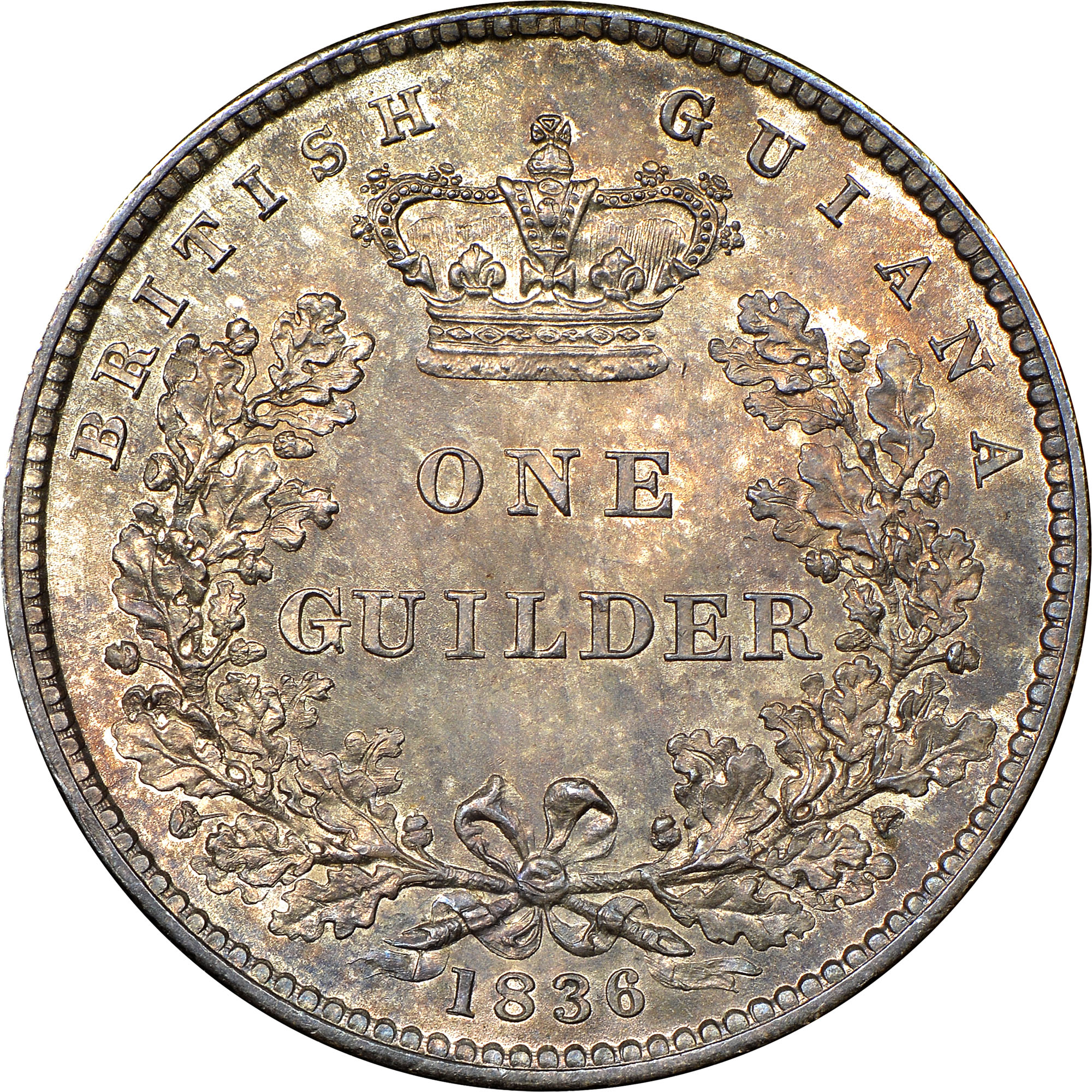 1836 Guyana Guilder reverse