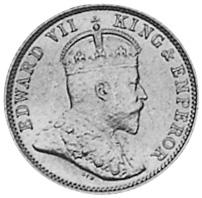 1903-1910 Guyana 4 Pence obverse