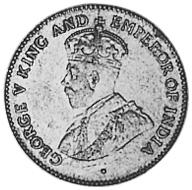 1917-1936 Guyana 4 Pence obverse