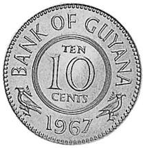 Guyana 10 Cents obverse