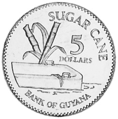 Guyana 5 Dollars reverse