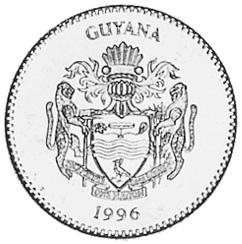 Guyana 5 Dollars obverse
