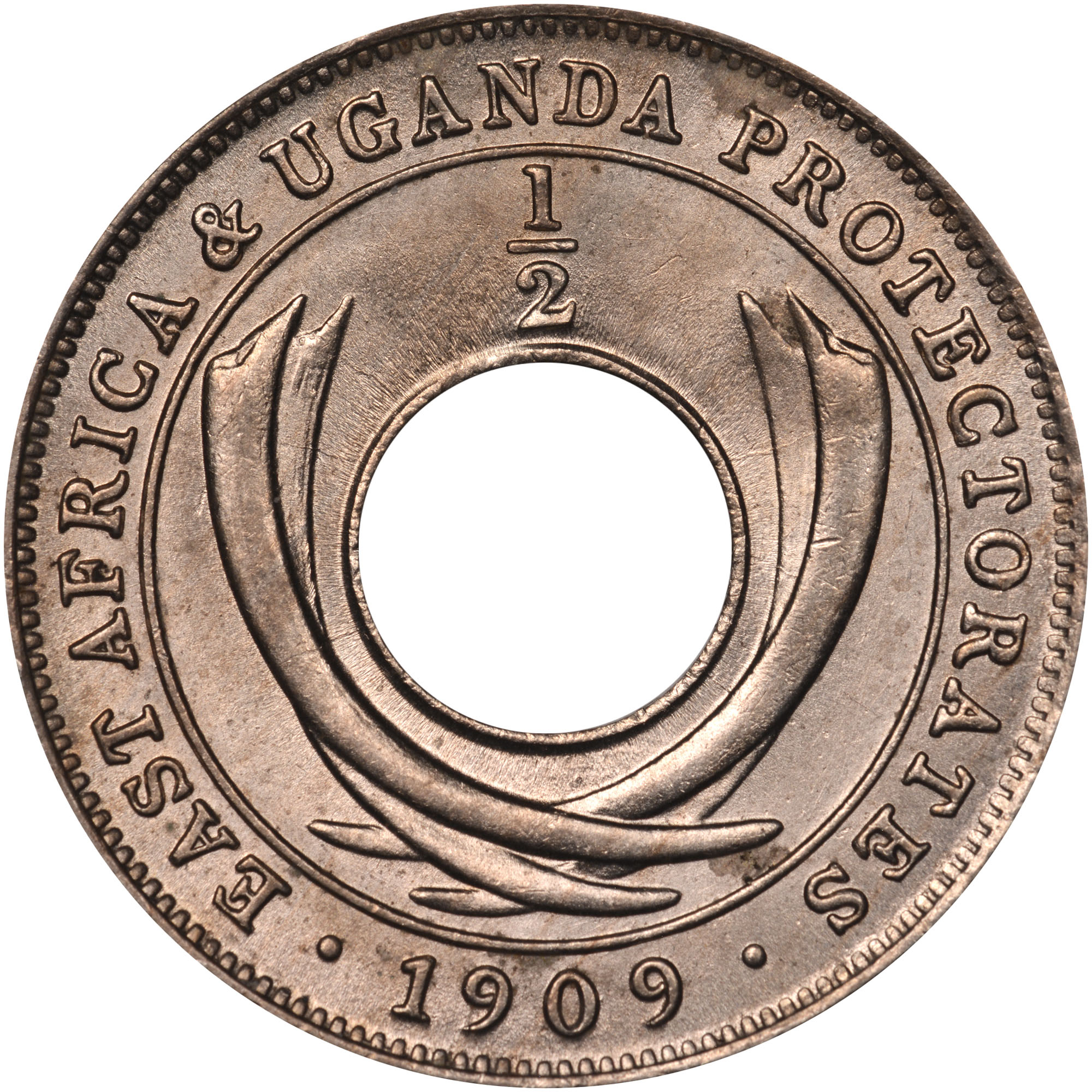 East Africa 1/2 Cent reverse