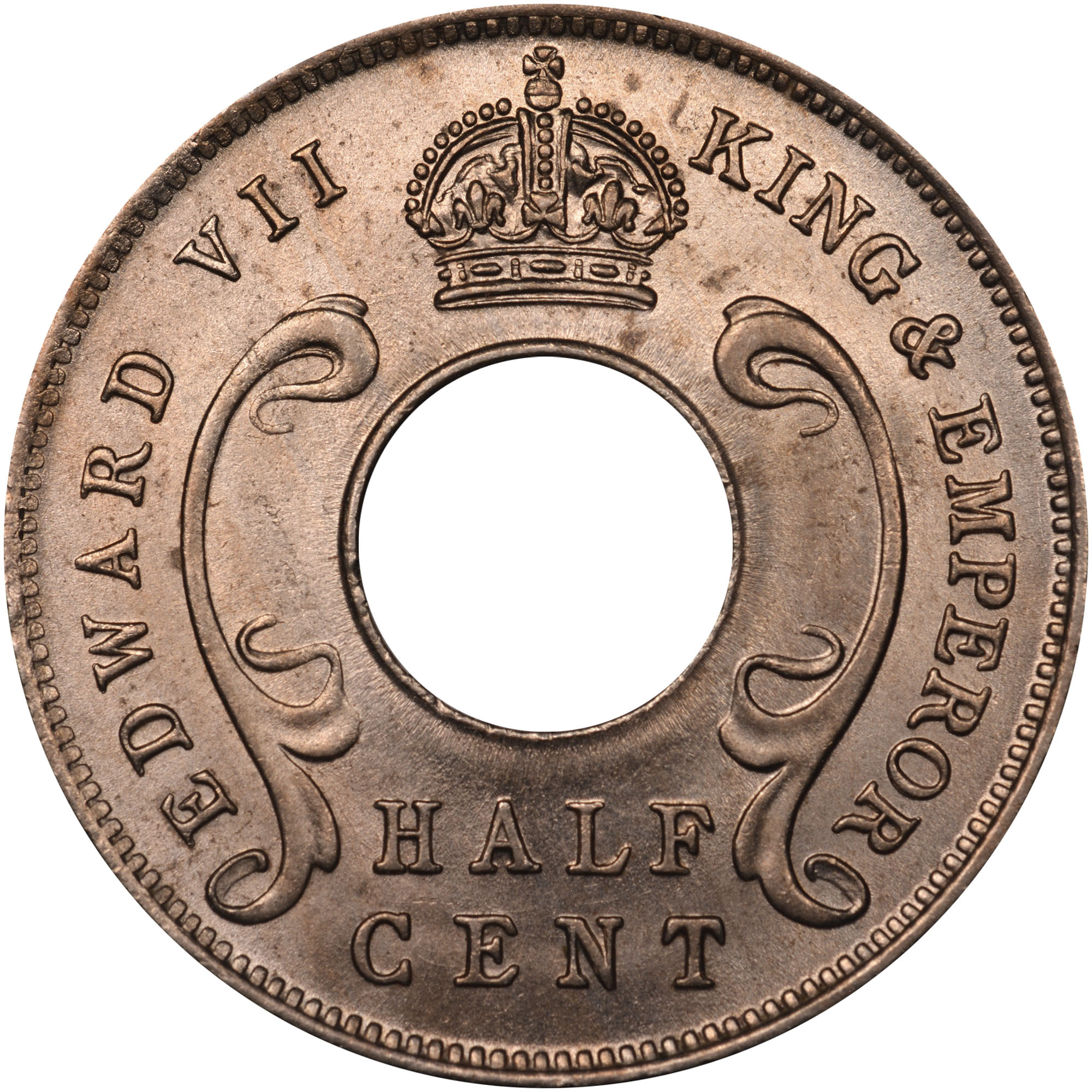 East Africa 1/2 Cent obverse