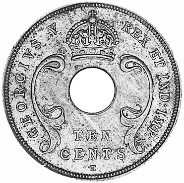 East Africa 10 Cents obverse