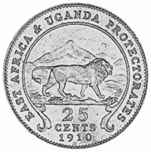 East Africa 25 Cents reverse