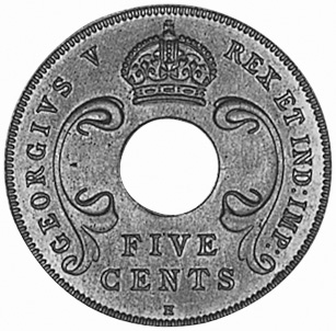 East Africa 5 Cents obverse