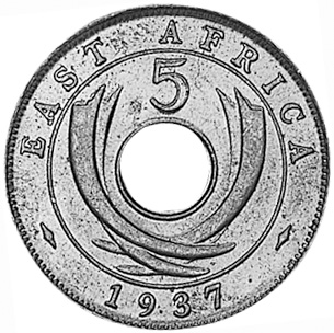 East Africa 5 Cents reverse