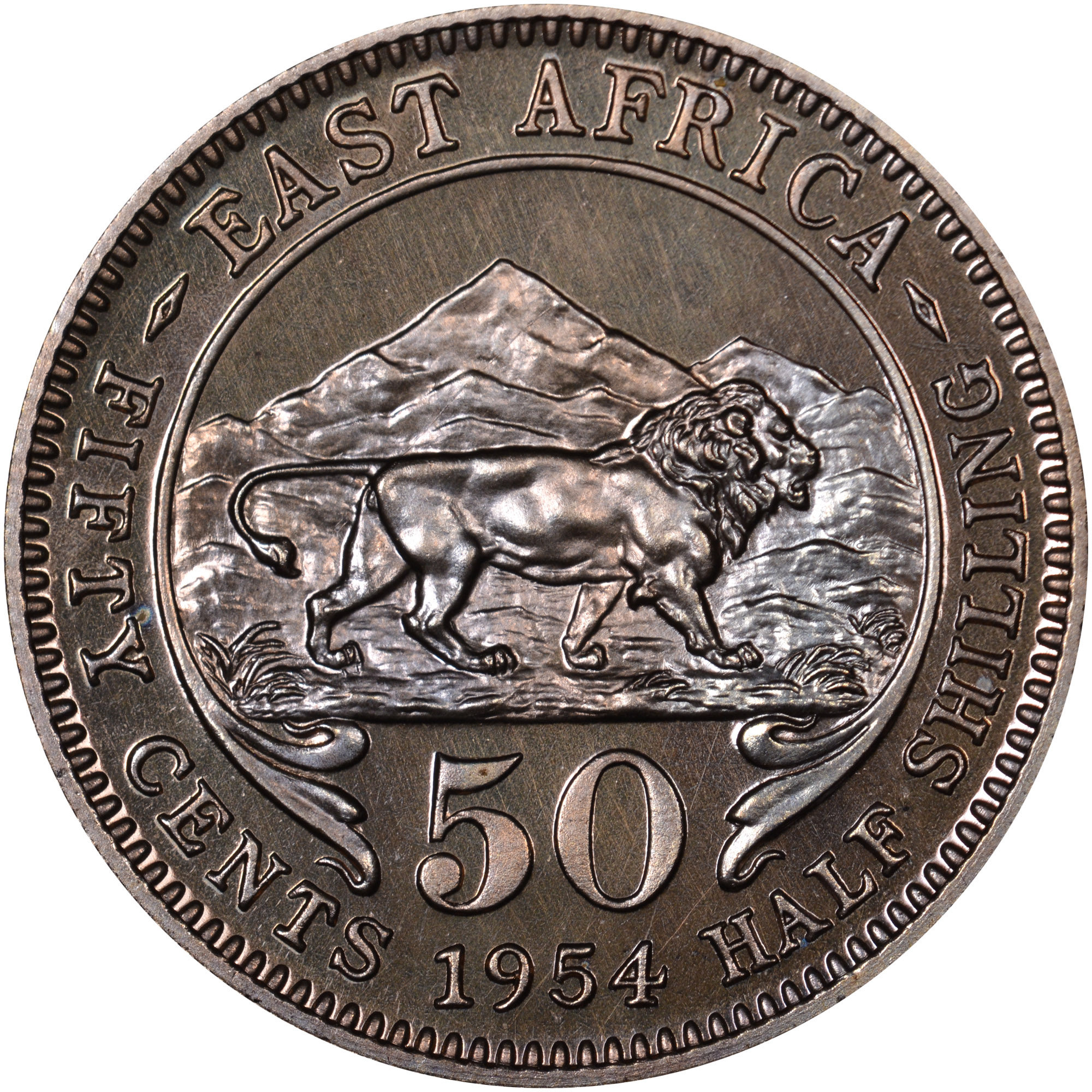 East Africa 50 Cents reverse