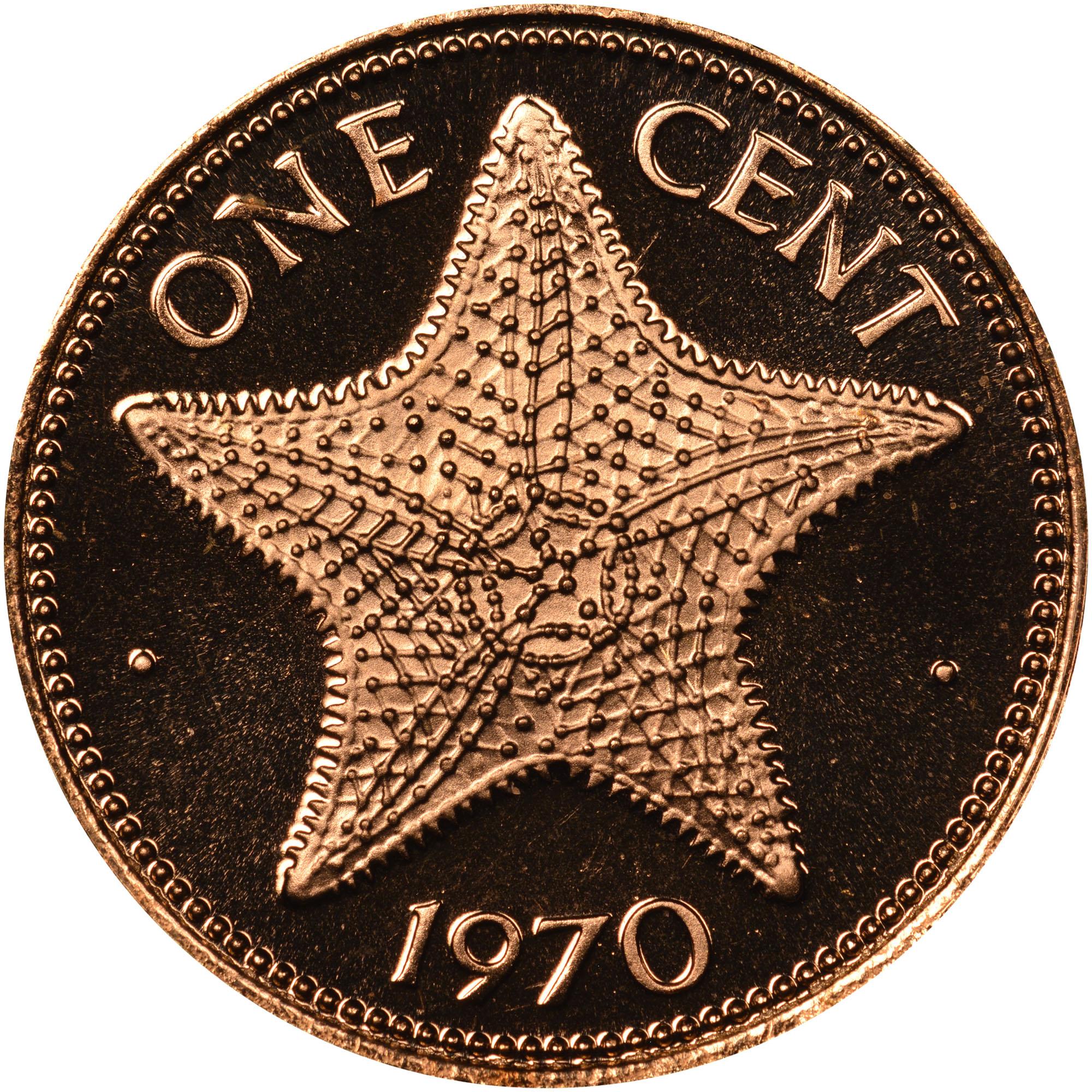 1970 Bahamas Cent reverse
