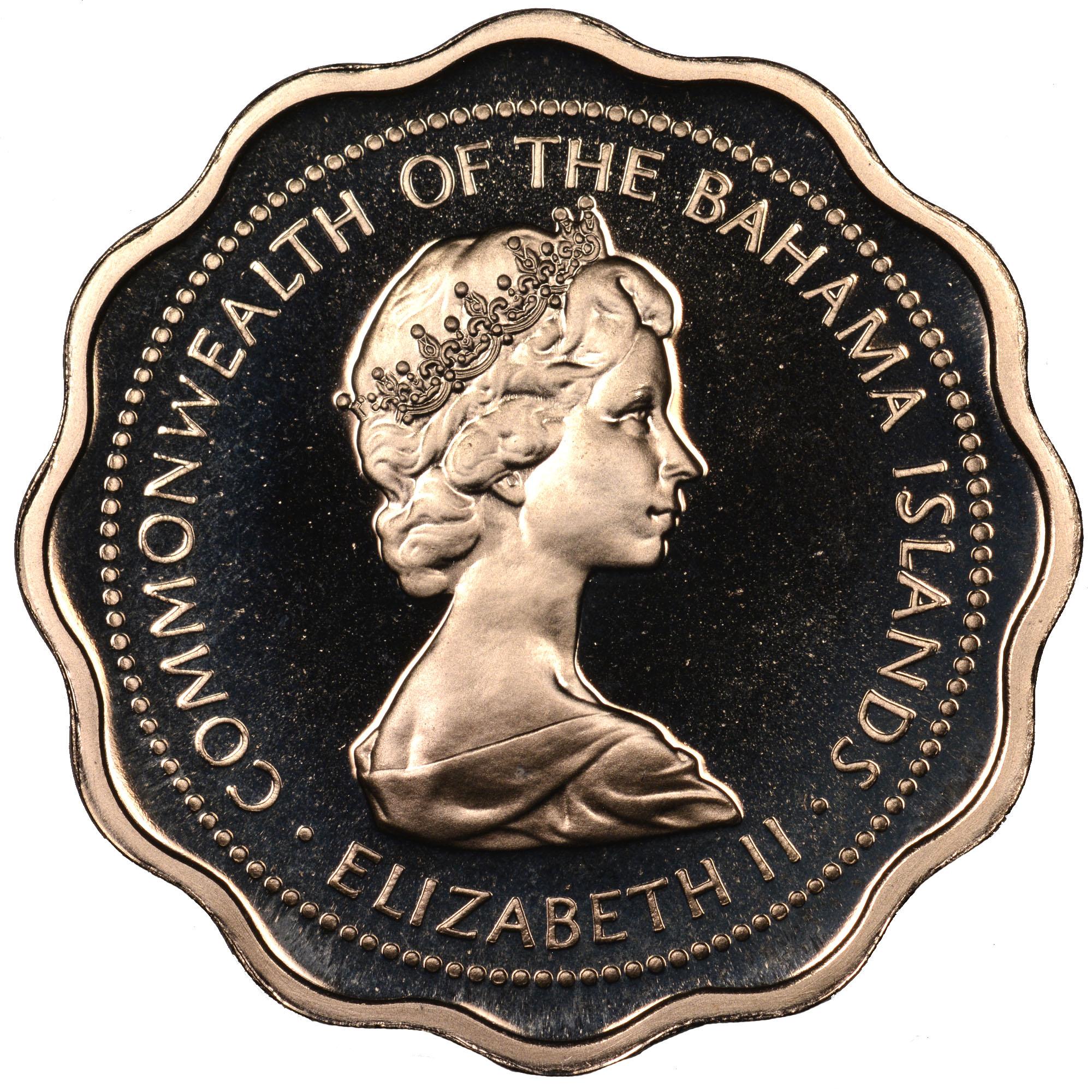 1971-1973 Bahamas 10 Cents obverse