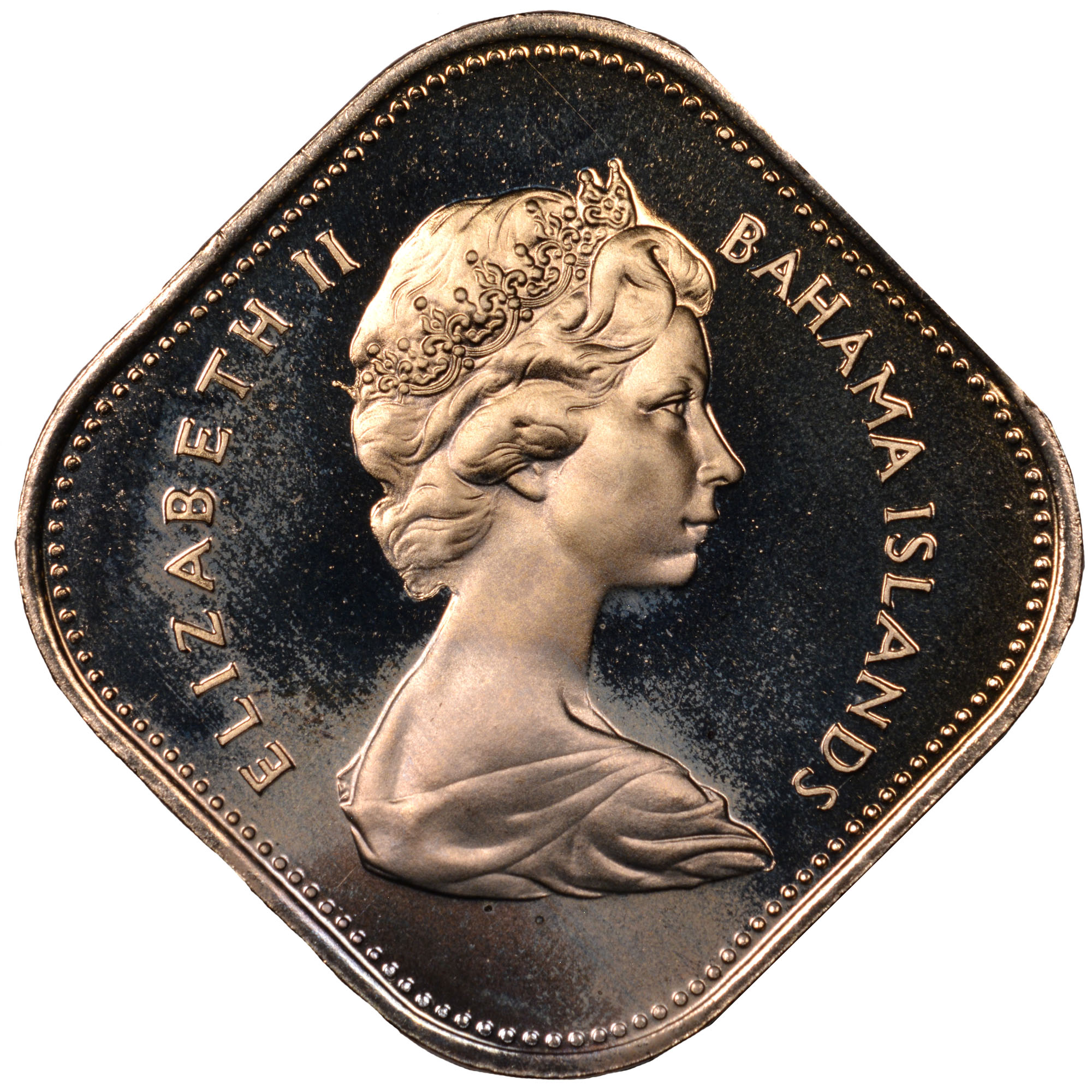 1966-1970 Bahamas 15 Cents obverse