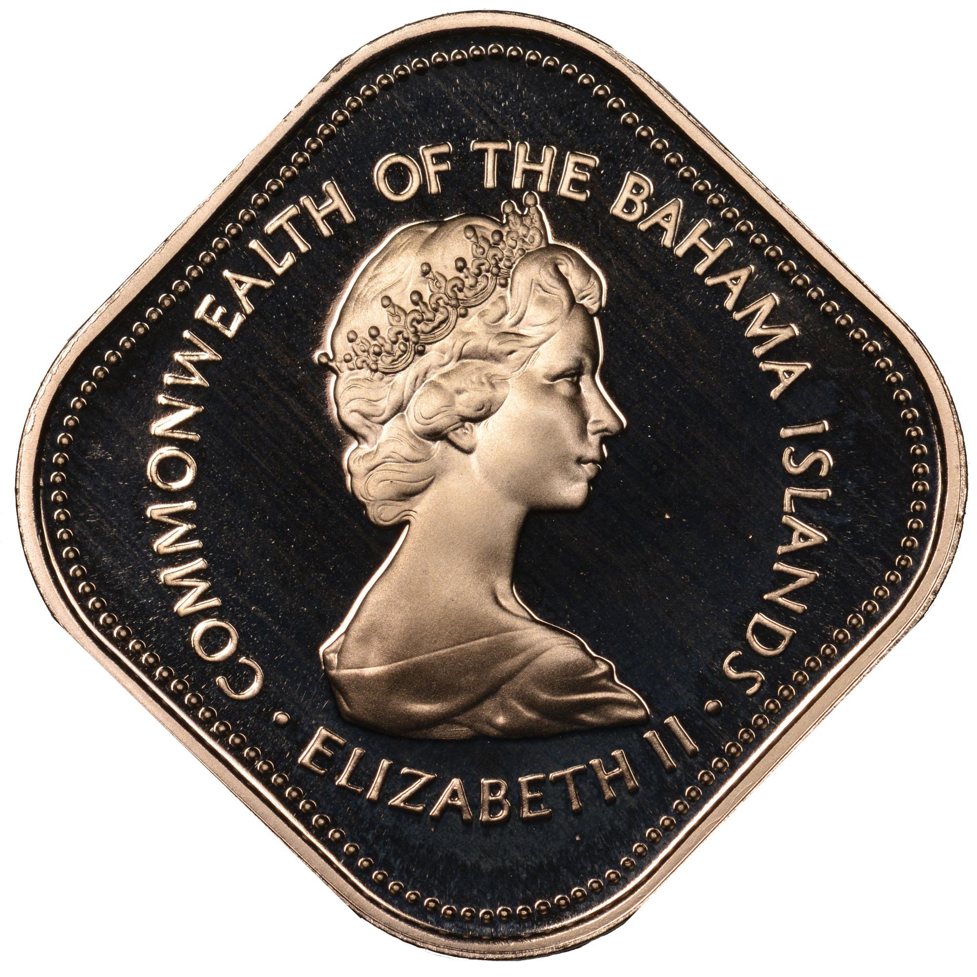 1971-1973 Bahamas 15 Cents obverse