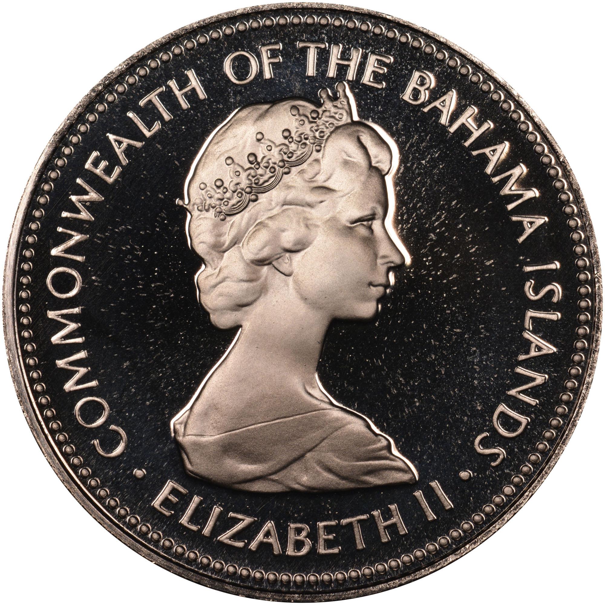 1971-1973 Bahamas 25 Cents obverse