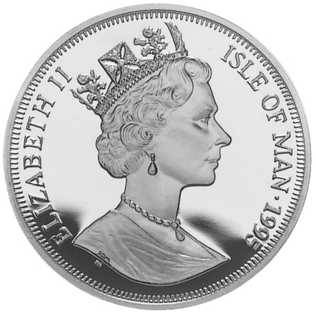 Isle Of Man Crown obverse
