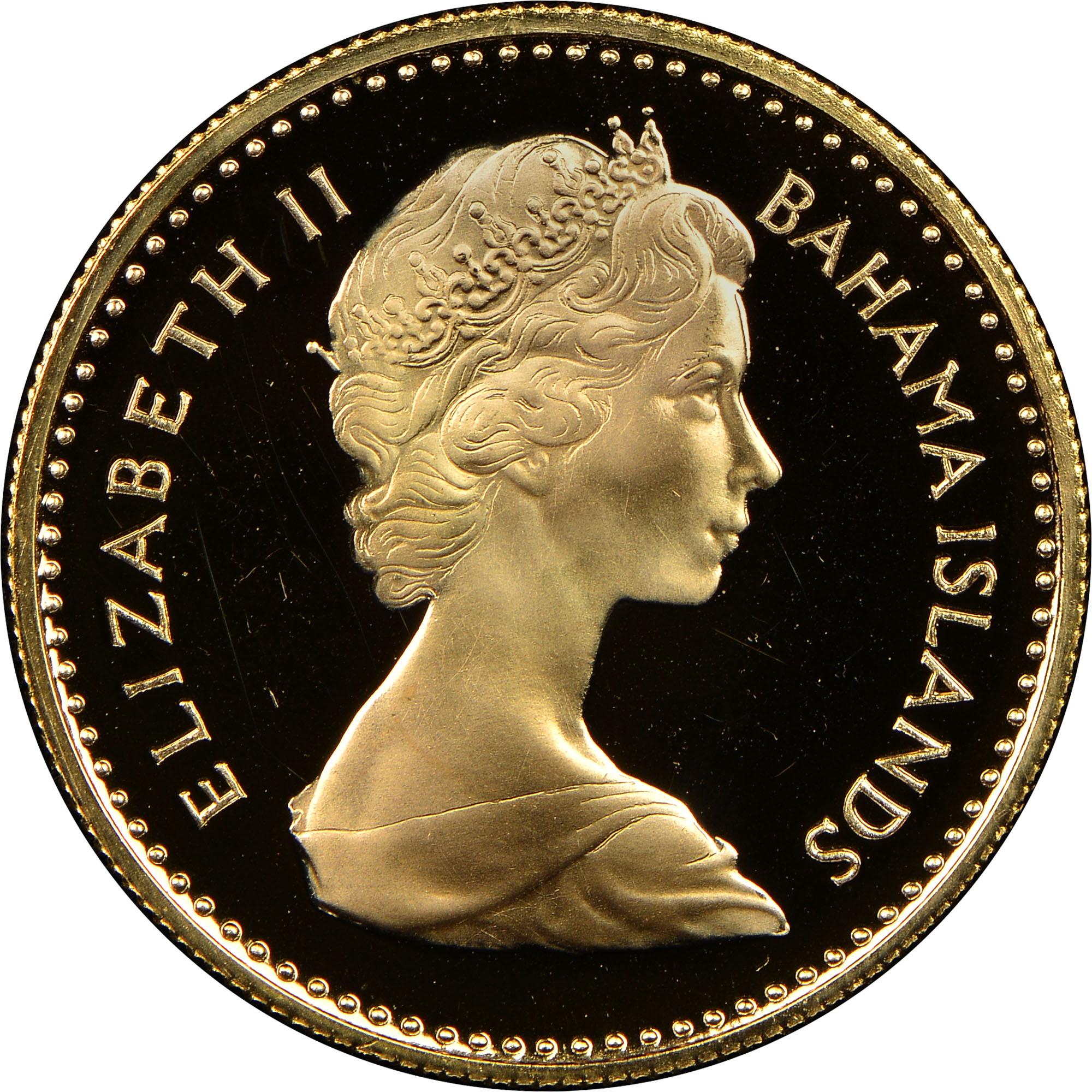 1967 Bahamas 10 Dollars obverse