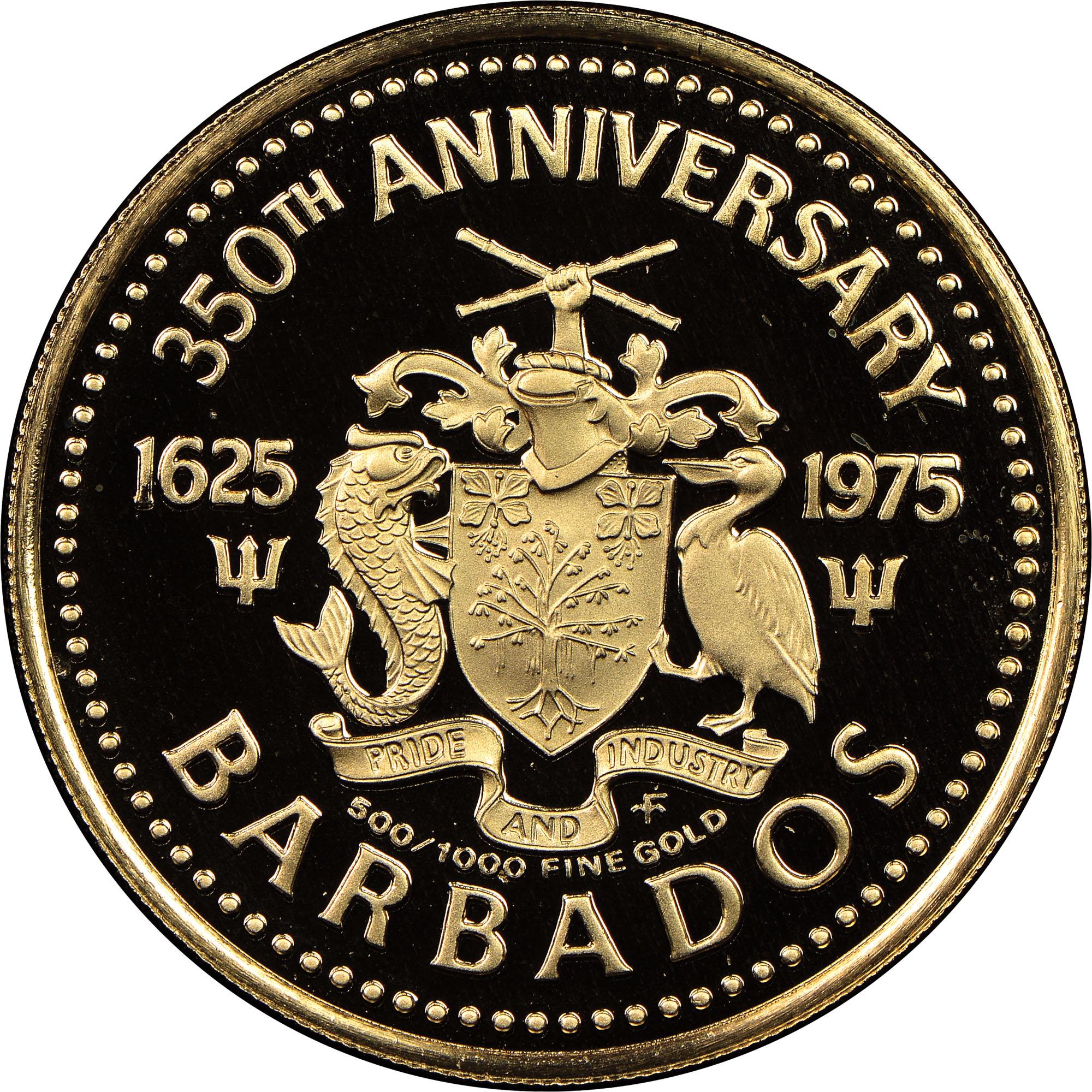 (1975) Barbados 100 Dollars obverse
