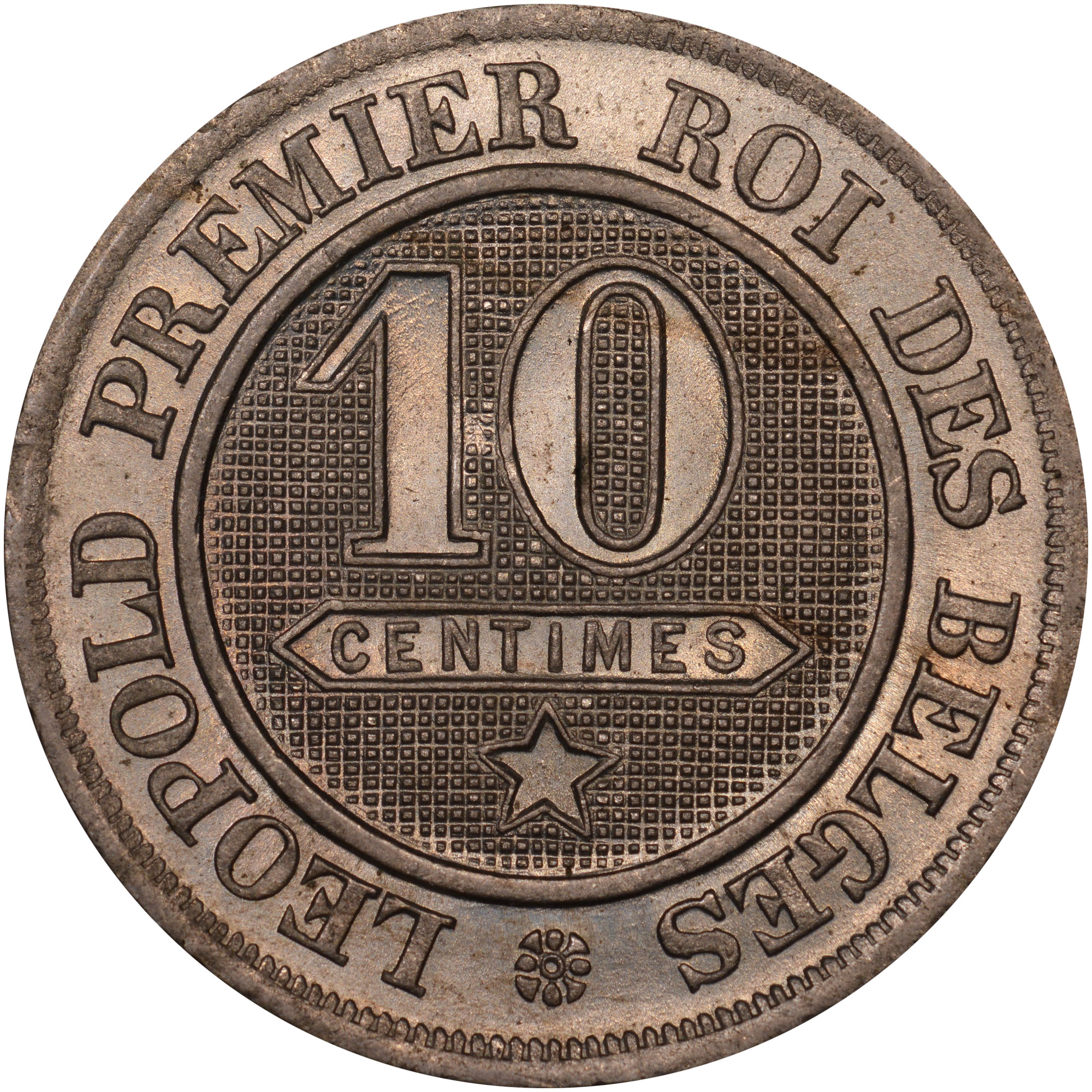 1861-1864 Belgium 10 Centimes reverse