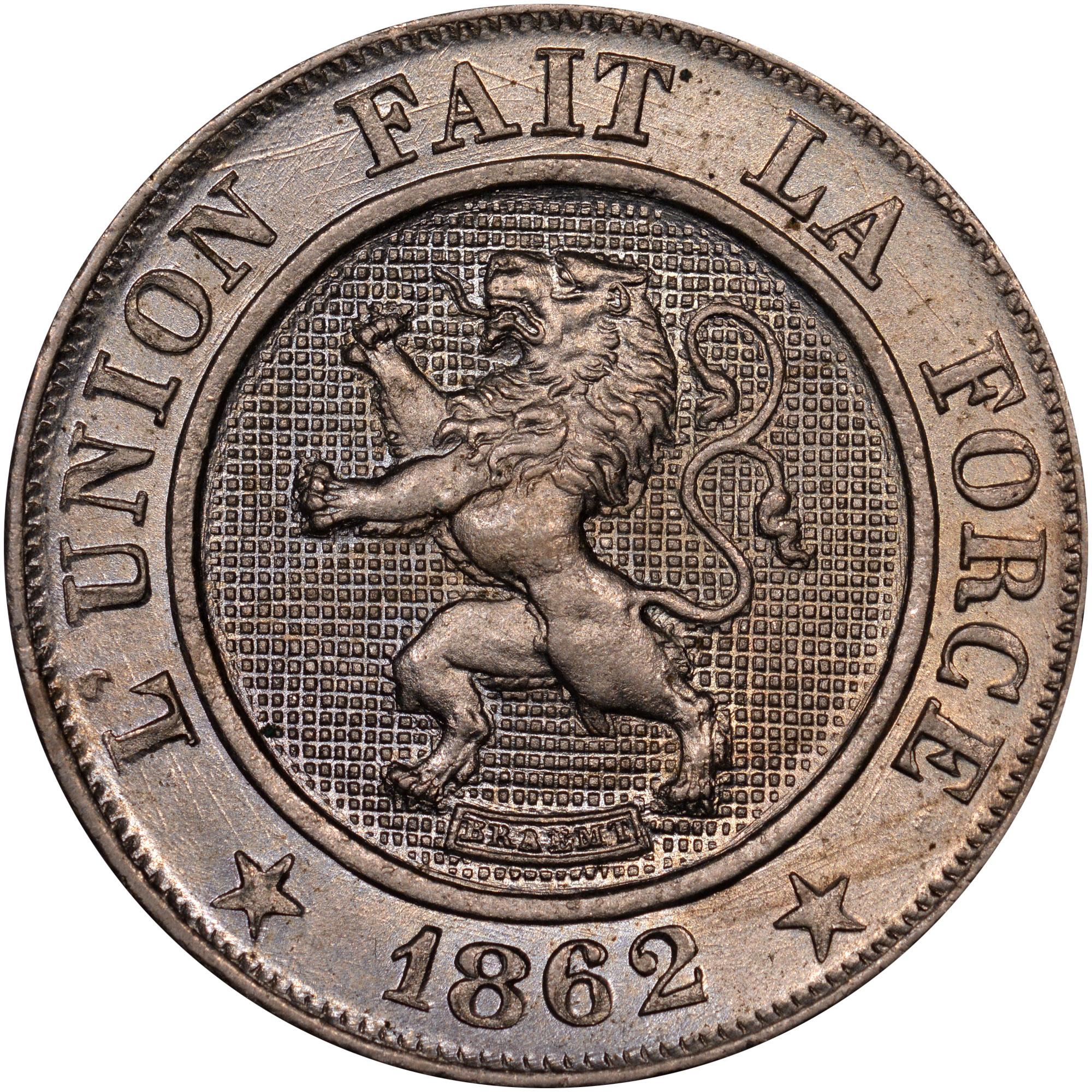 1861-1864 Belgium 10 Centimes obverse