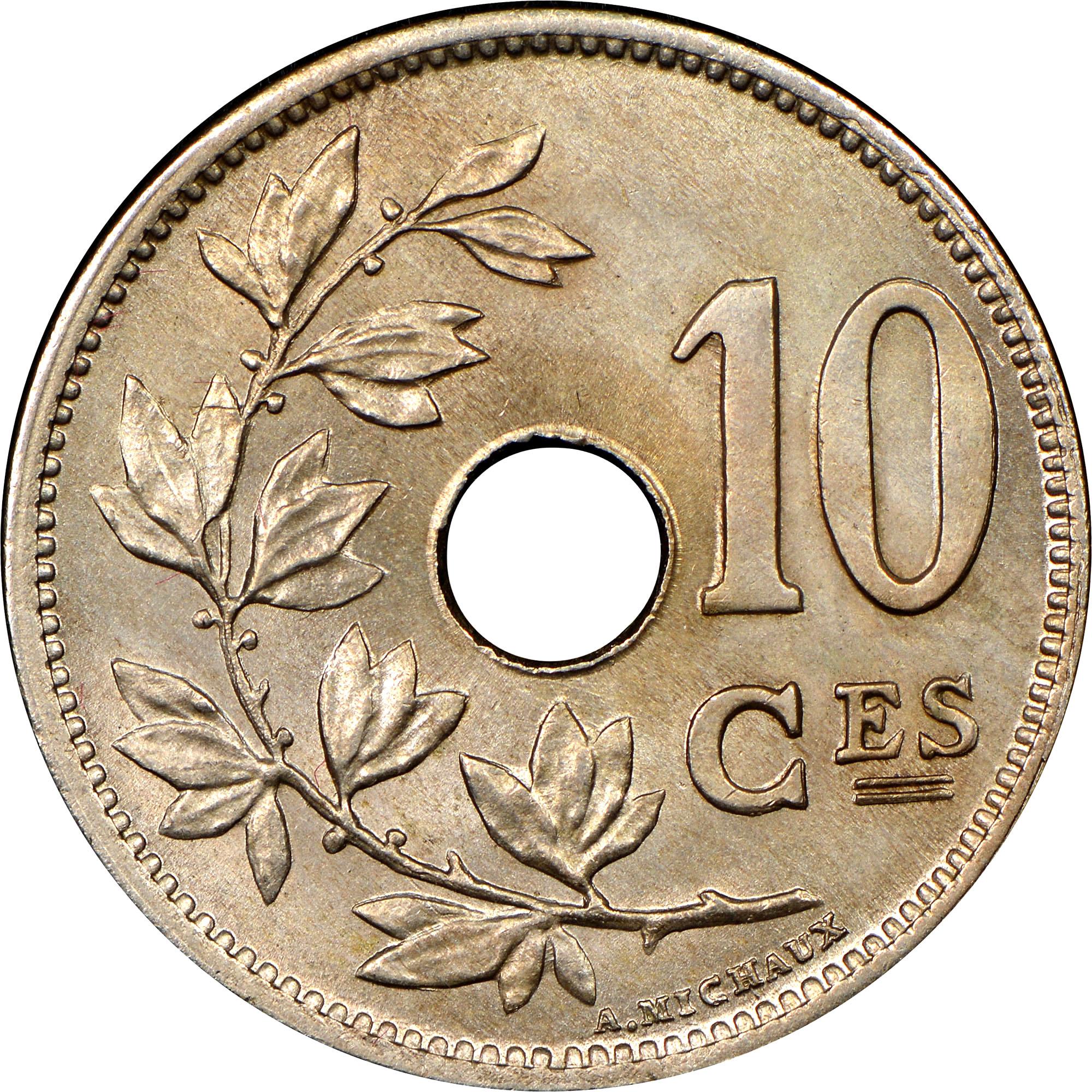 Belgium 10 Centimes reverse