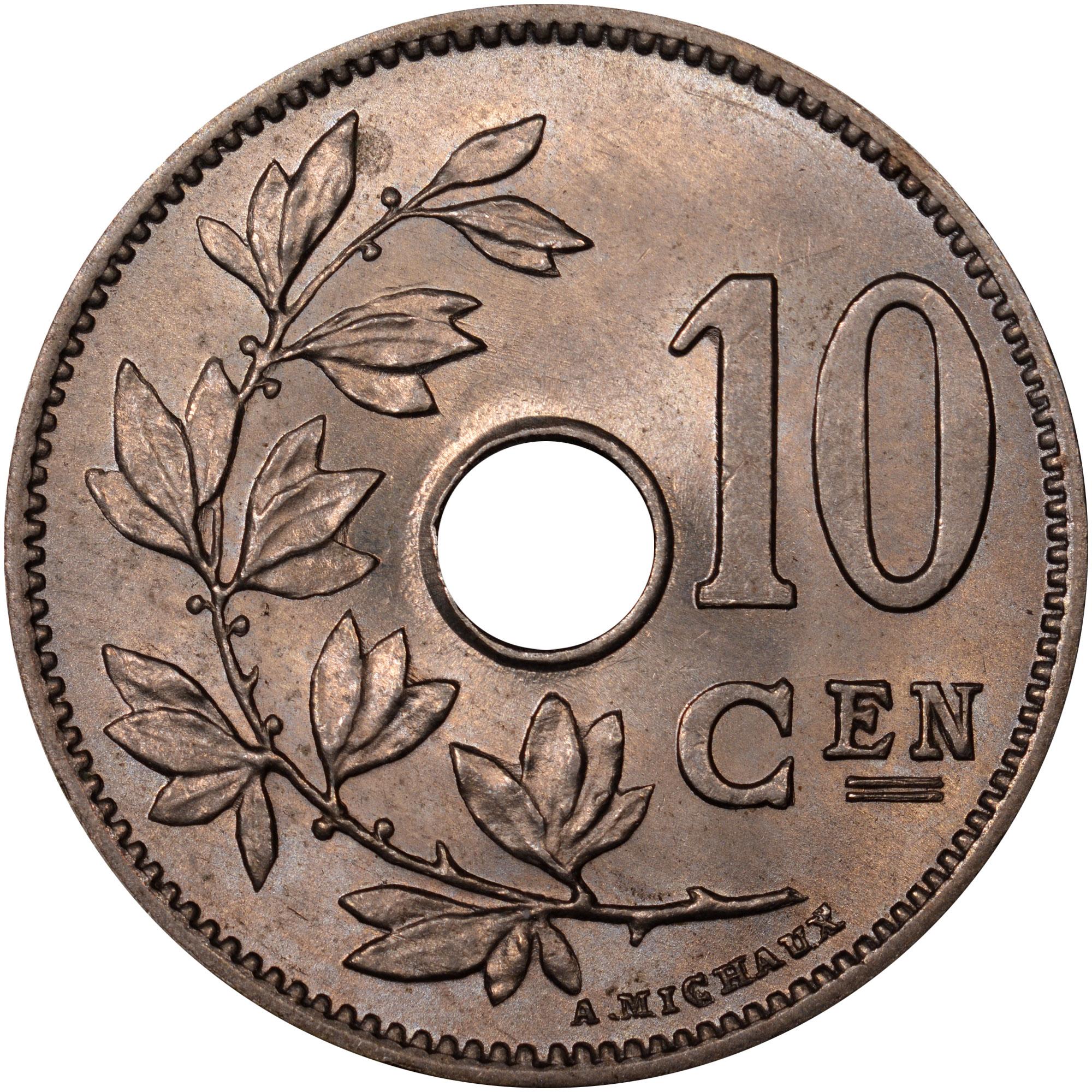 1903-1906/5 Belgium 10 Centimes reverse