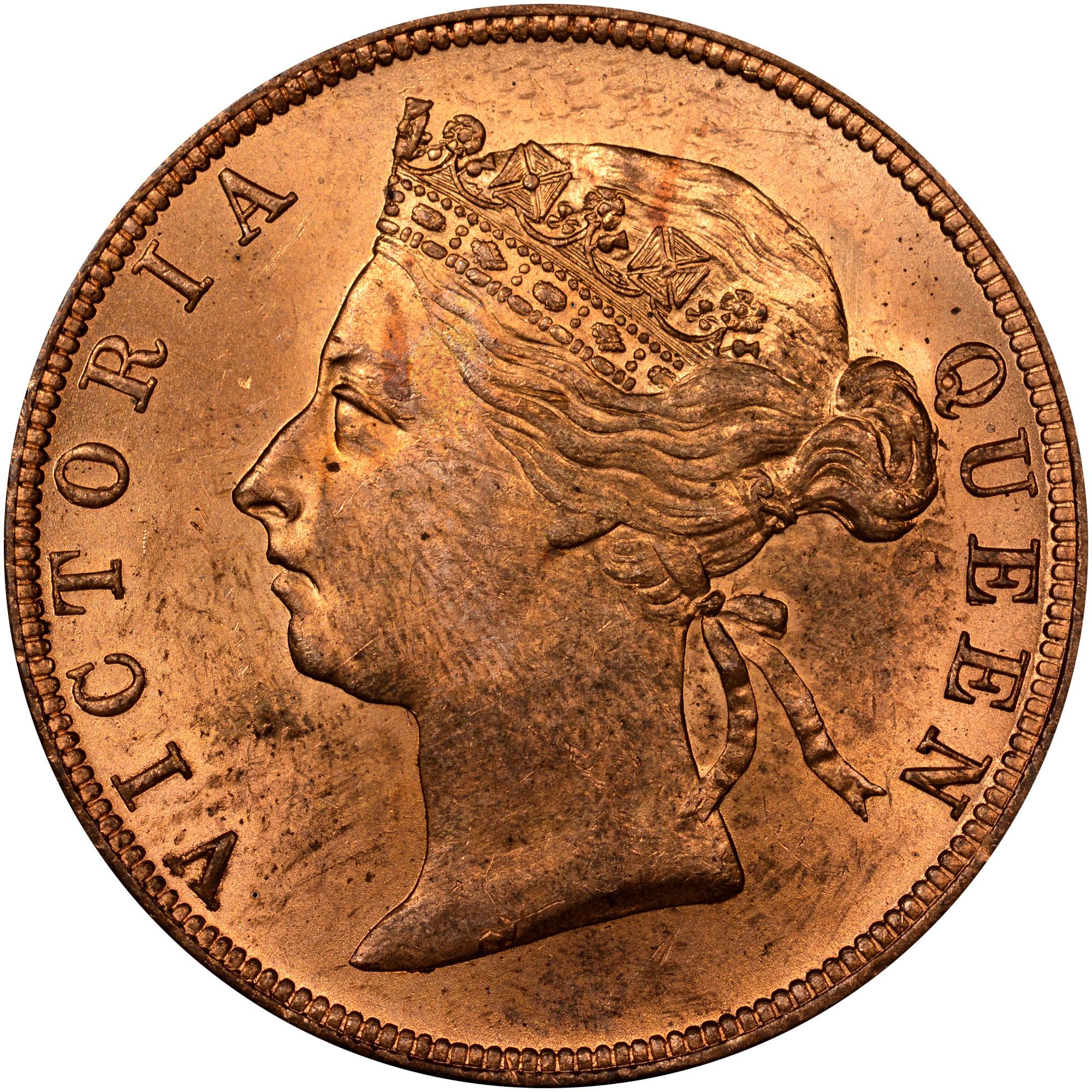 1885-1894 British Honduras Cent obverse