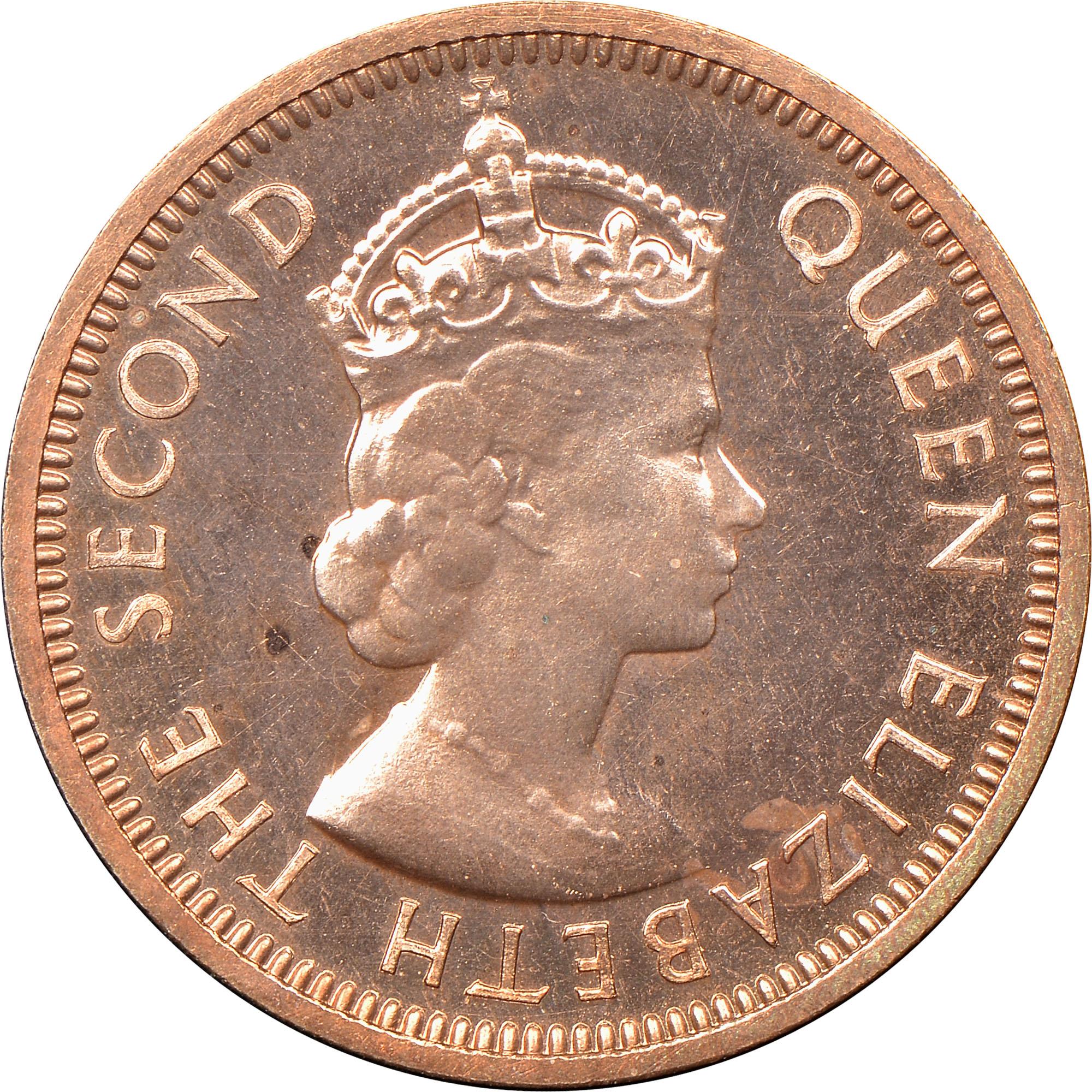 1954 British Honduras Cent obverse