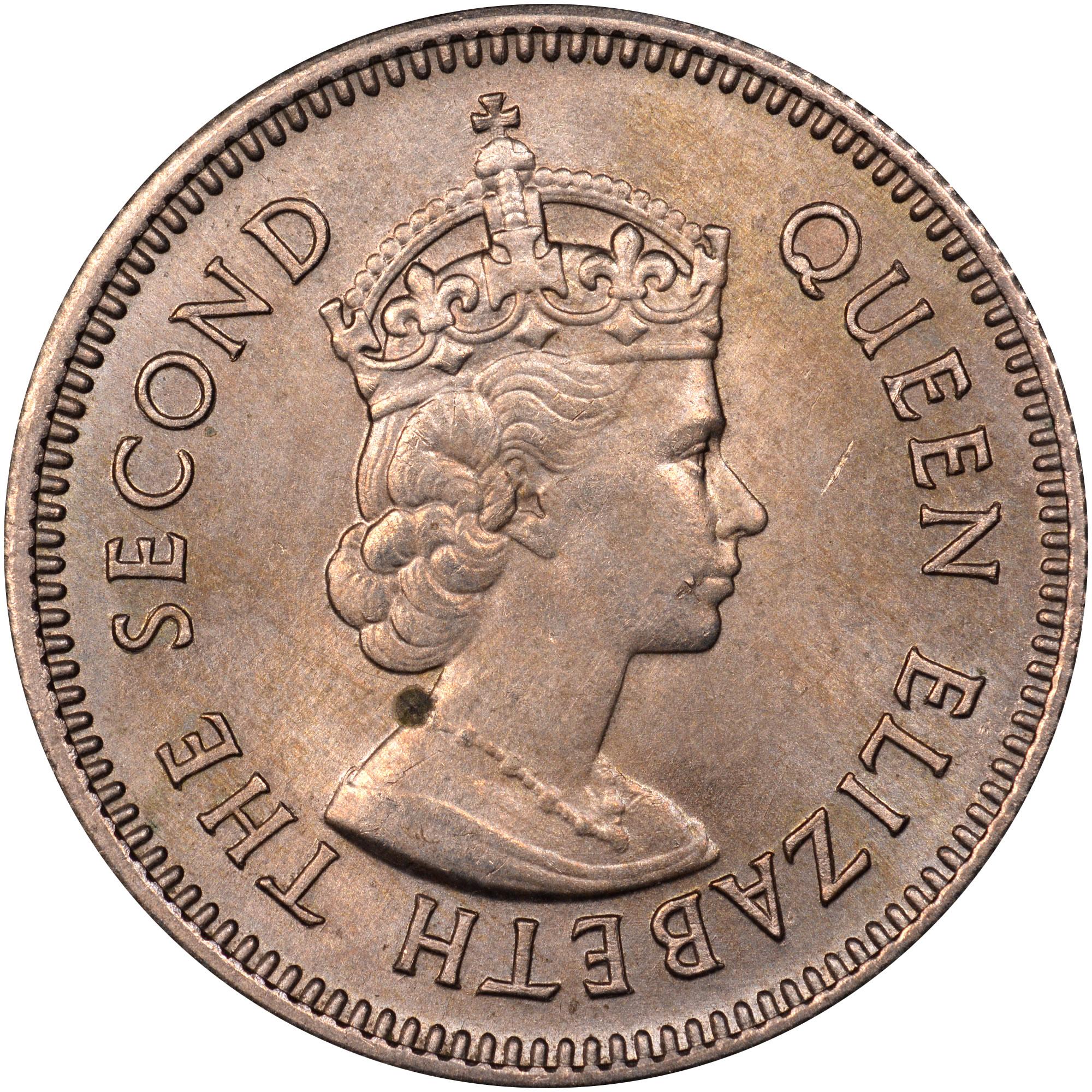 1956-1970 British Honduras 10 Cents obverse