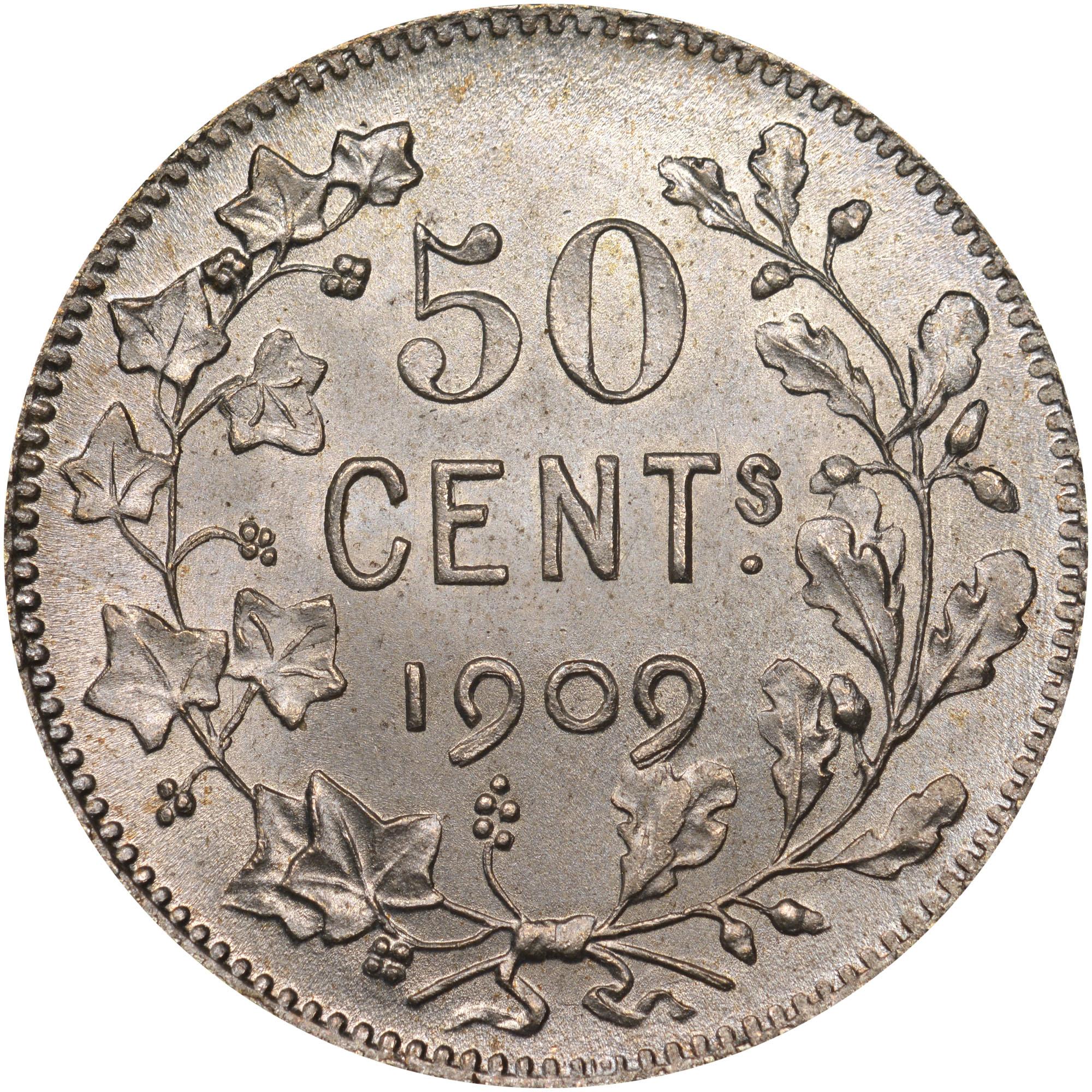 Belgium 50 Centimes reverse