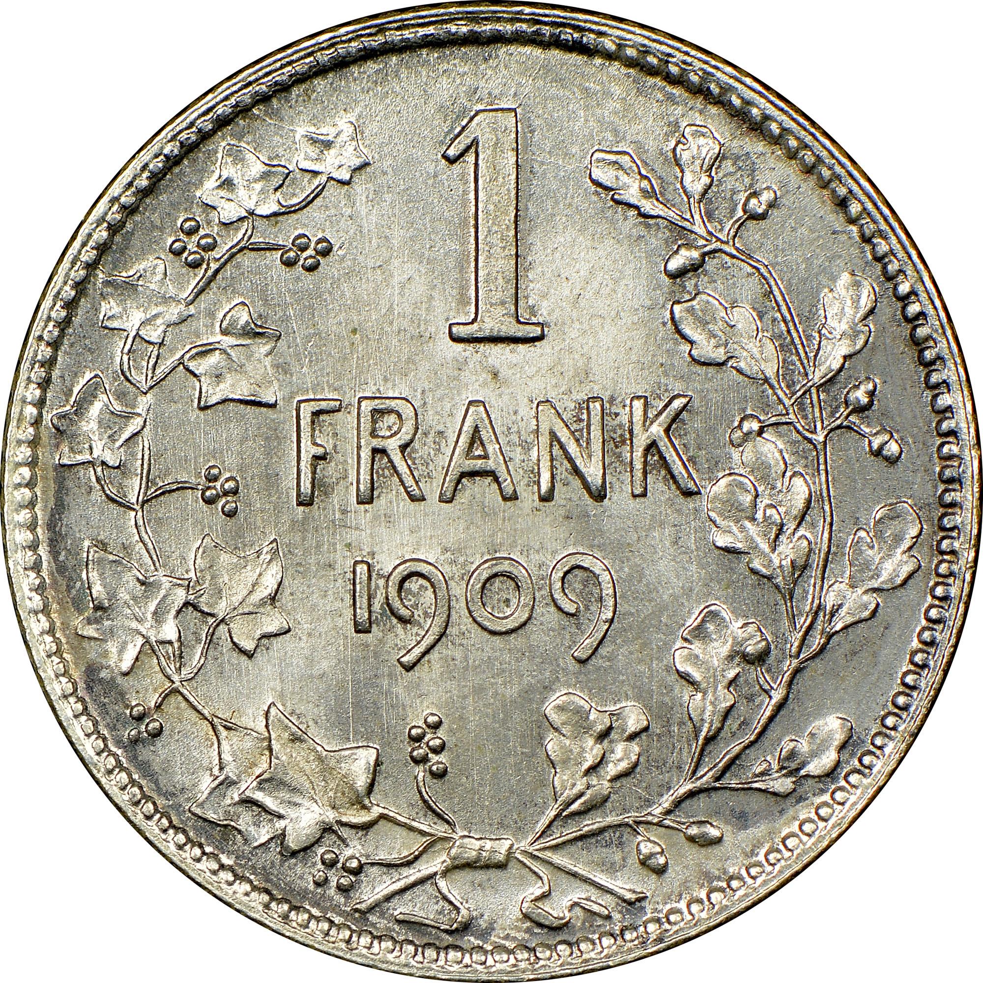 Belgium Franc reverse