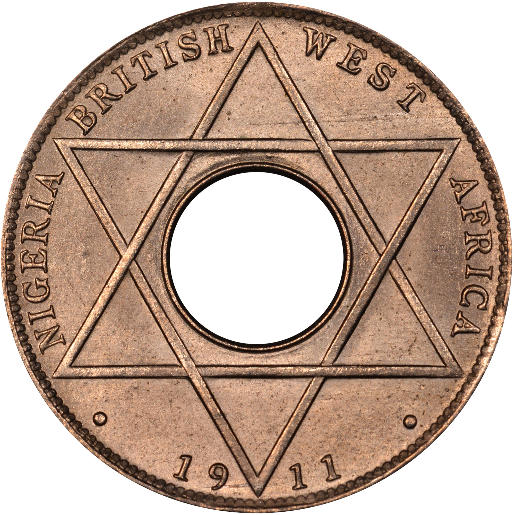 1911 British West Africa 1/10 Penny reverse