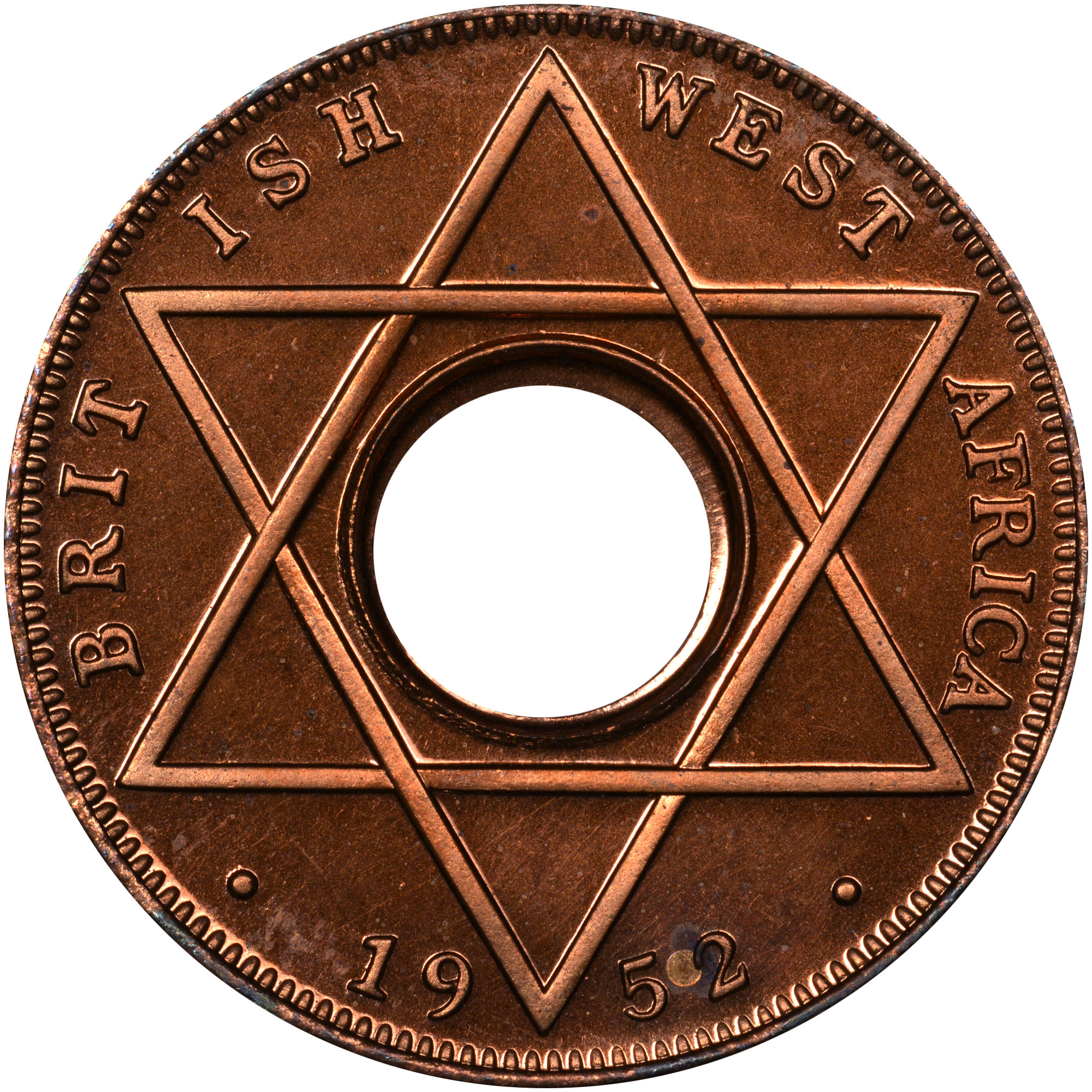1952 British West Africa 1/10 Penny reverse