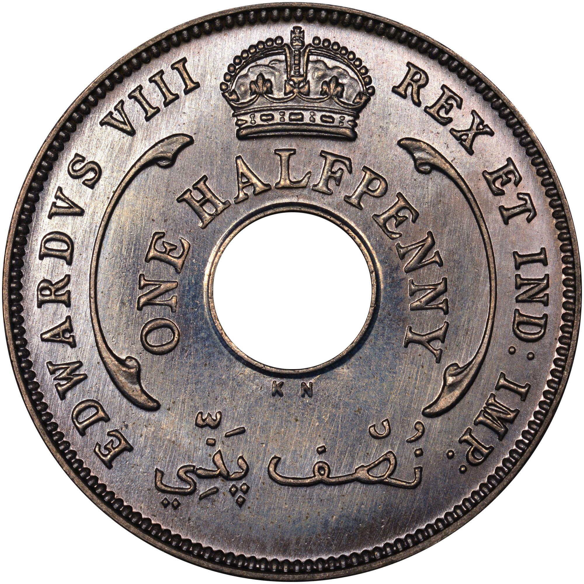 British West Africa 1/2 Penny obverse