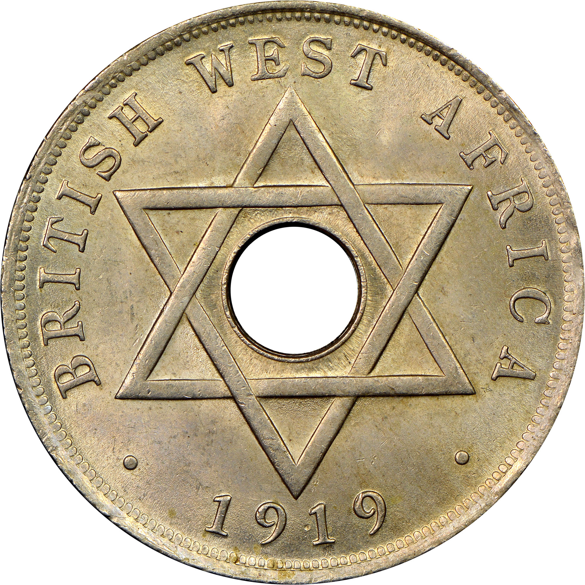 British West Africa Penny reverse
