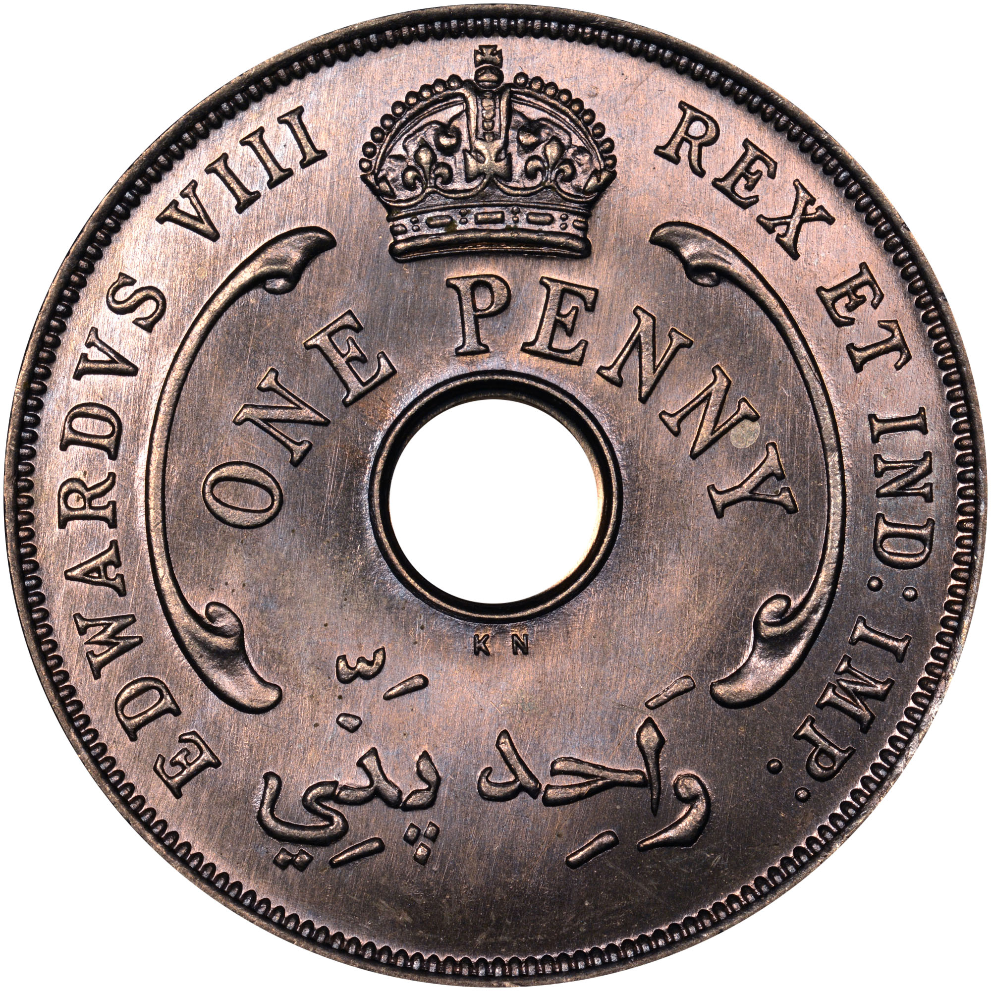 1936 British West Africa Penny obverse
