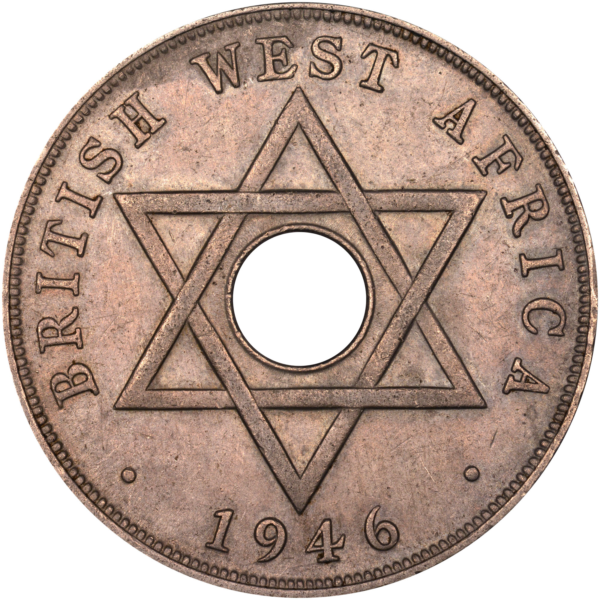 1937-1947 British West Africa Penny reverse