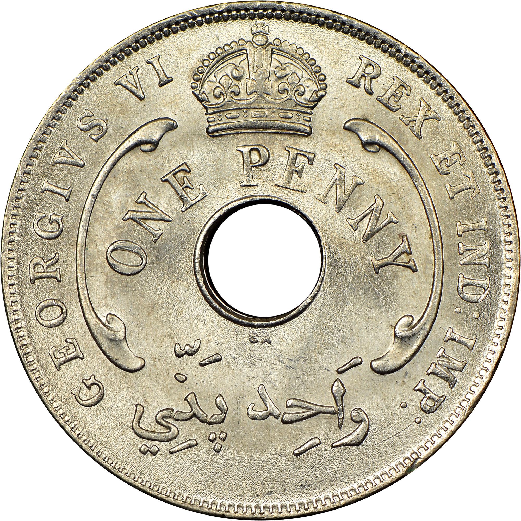 1937-1947 British West Africa Penny obverse