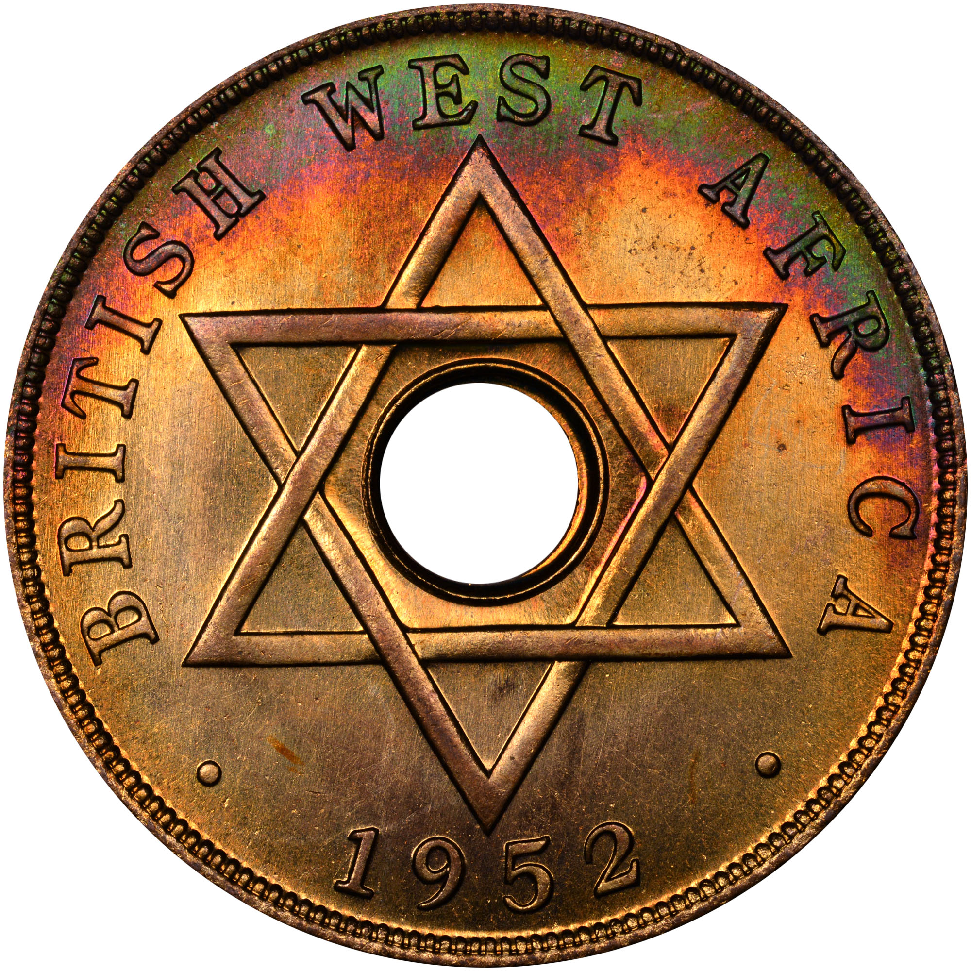 1952 British West Africa Penny reverse