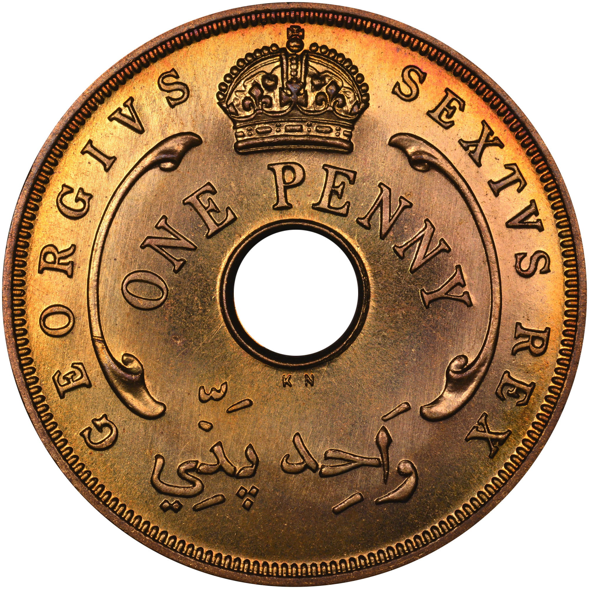 1952 British West Africa Penny obverse