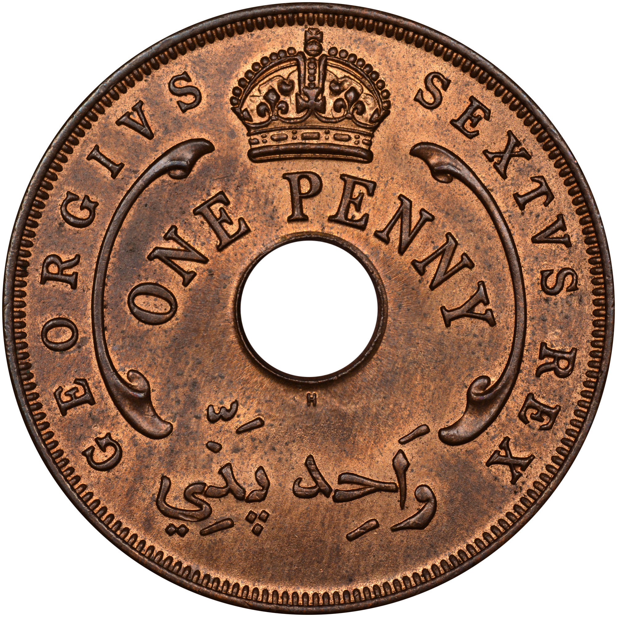 1956 British West Africa Penny obverse