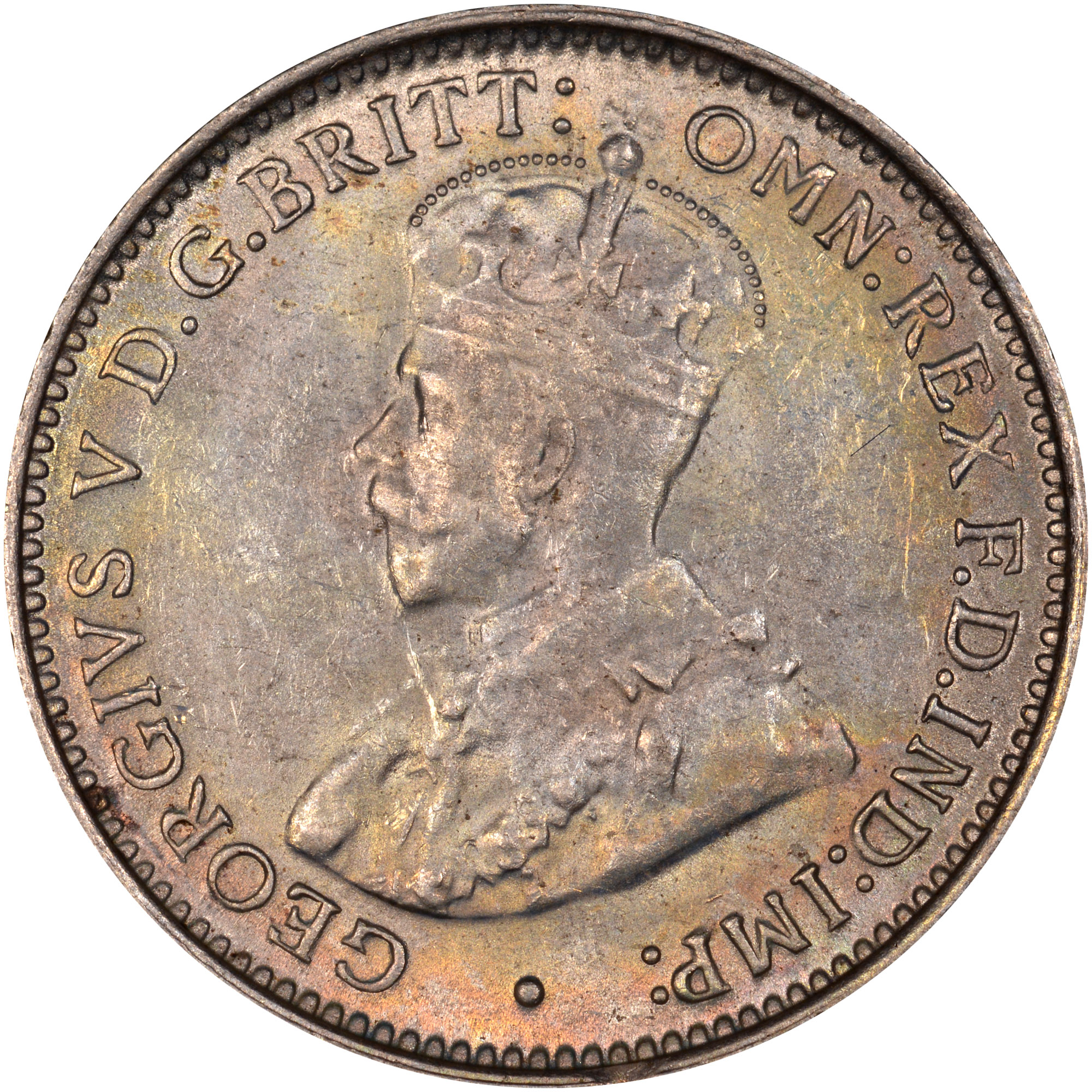 1920 British West Africa 3 Pence obverse