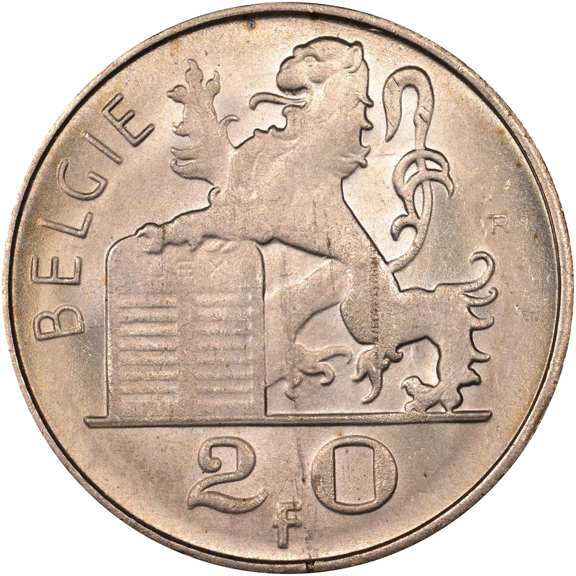 Belgium 20 Francs obverse