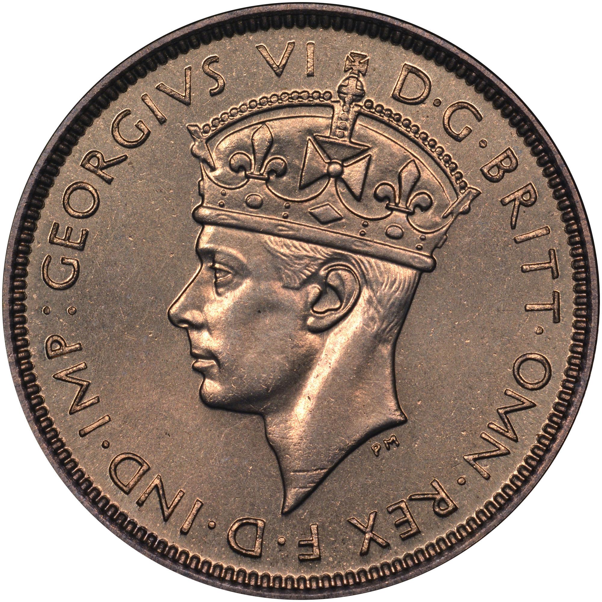 British West Africa 3 Pence obverse