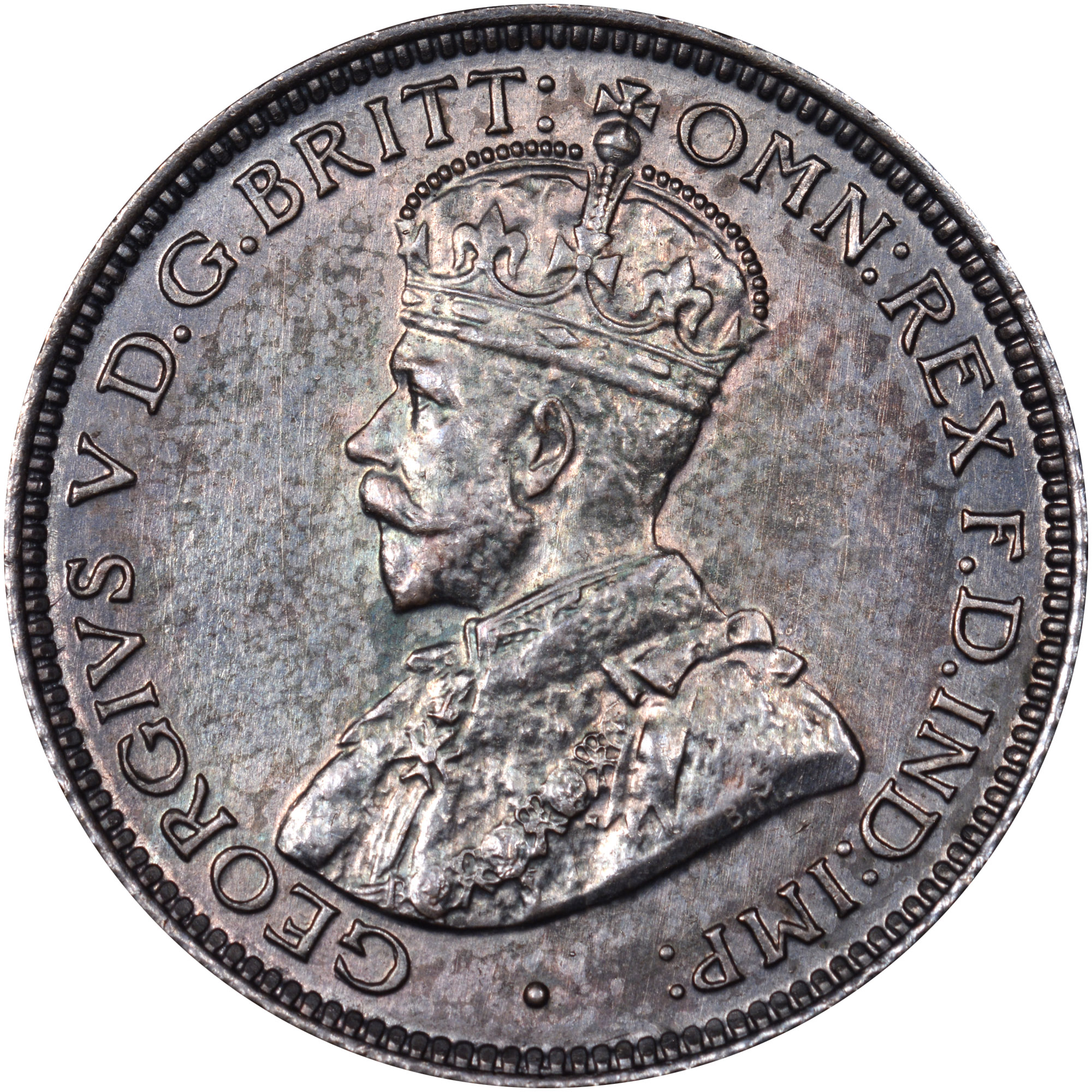 1913-1919 British West Africa 6 Pence obverse