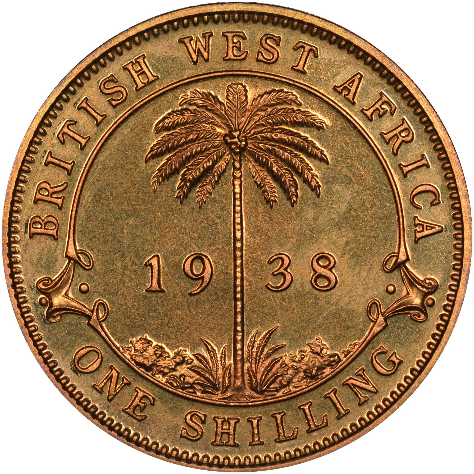 British West Africa Shilling reverse