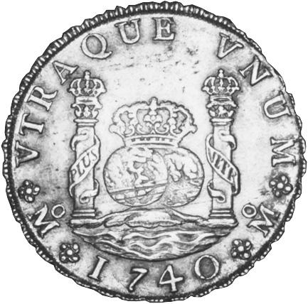 Mexico SPANISH COLONY 8 Reales reverse