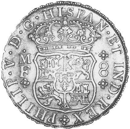 Mexico SPANISH COLONY 8 Reales obverse