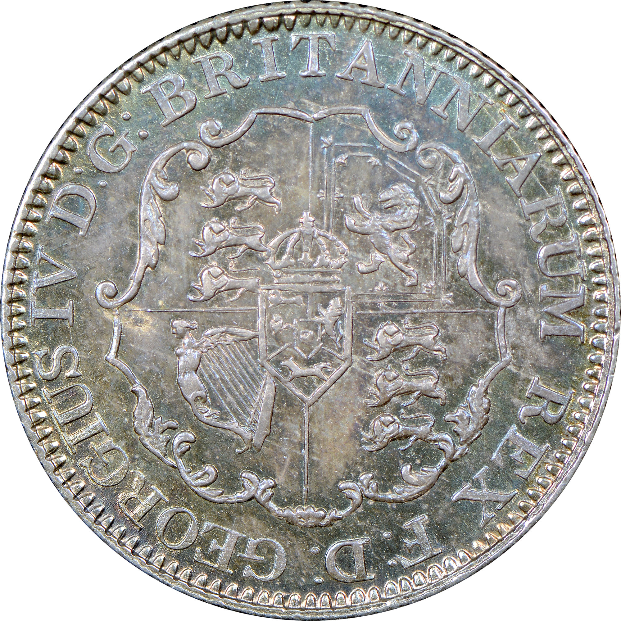 1820-1822/1 British West Indies 1/8 Dollar reverse