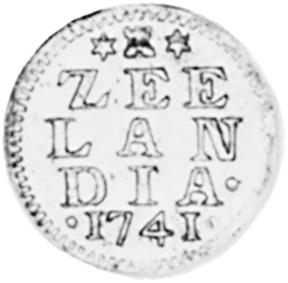 Netherlands ZEELAND Duit reverse