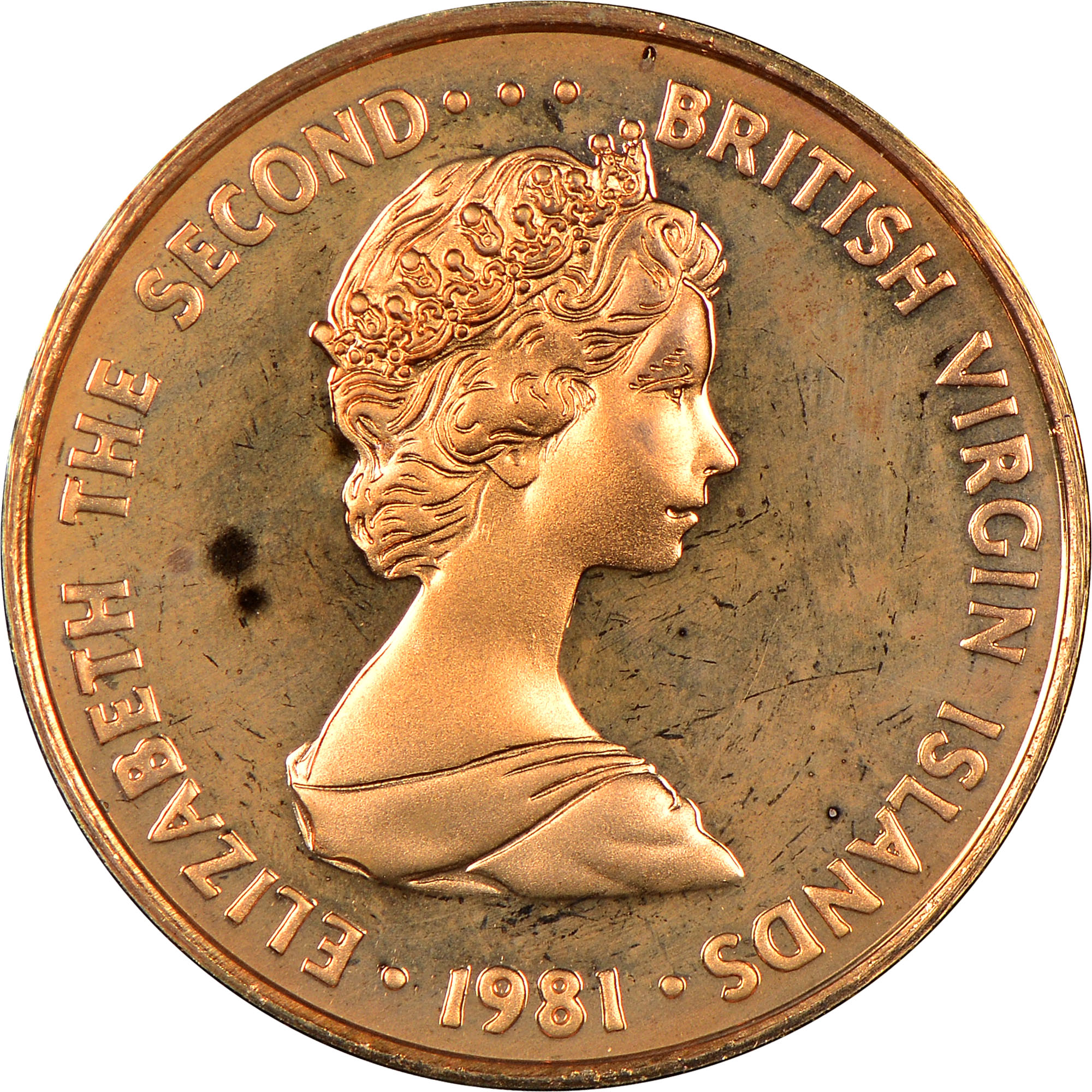 1973-1984 British Virgin Islands Cent obverse
